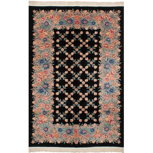 Look for One-of-a-Kind Hamblin Traditional Hand-Knotted Wool Black Indoor Area Rug By Isabelline