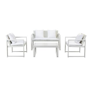 Hampshire 4 Piece Sofa Set with Cushions