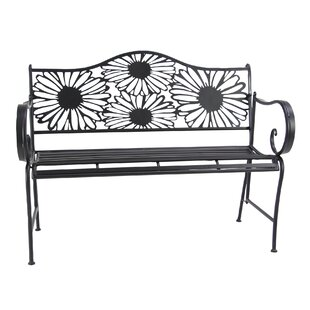 August Grove Arsenovic Metal Bench
