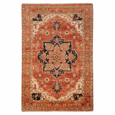 Bloomsbury Market Burlin Hand-Knotted Wool Cherry Area Rug Rug Size: Rectangle 9' x 13'