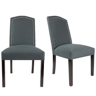 Latitude Run Shelton Upholstered Contemporary Parsons Chair (Set of 2)