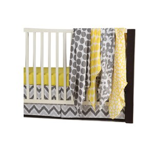 Ikat Dots/Giraffe 6 Piece Crib Bedding Set