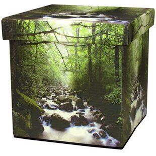 River of Life Storage Ottoman by Oriental Furniture