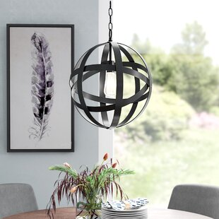 Mercury Row Ealey 1-Light Globe Pendant