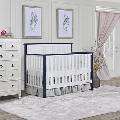 Alexa II 5 in 1 Convertible Crib Dream On Me Color: White/Wire Navy