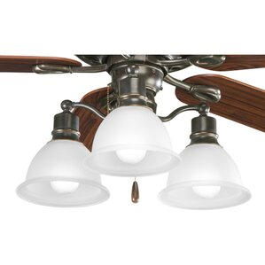 Gradall 3 Light Branched Ceiling Fan Kit
