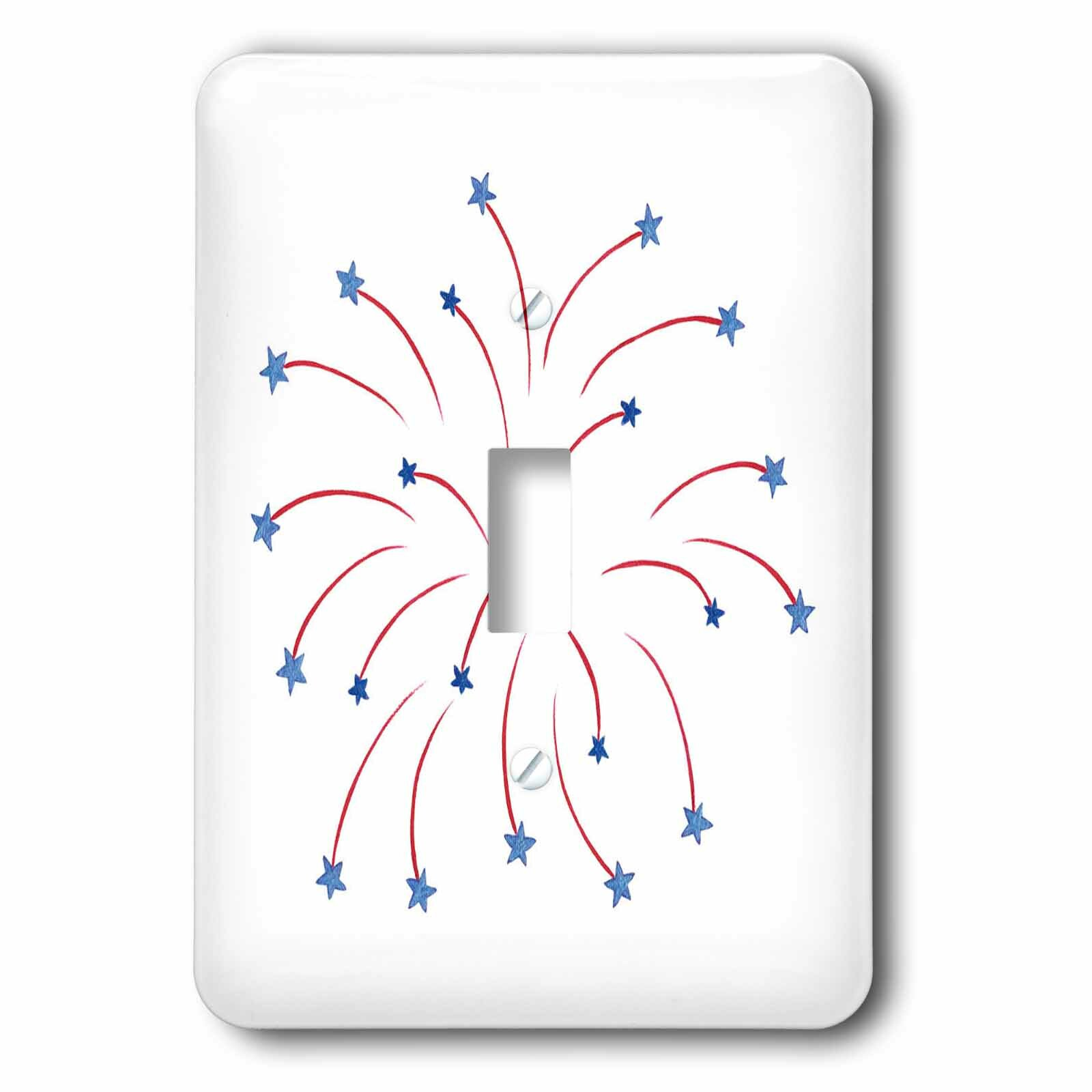 3drose Star Fireworks 1 Gang Toggle Light Switch Wall Plate Wayfair