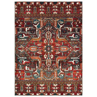 Keener Tribal Memories Red Area Rug by Bloomsbury Market