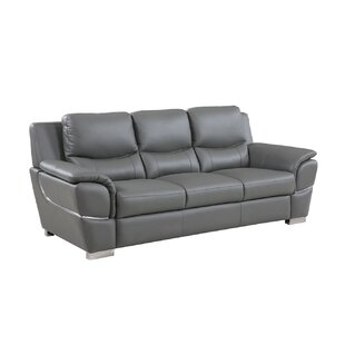 Latitude Run Henton Leather Sofa