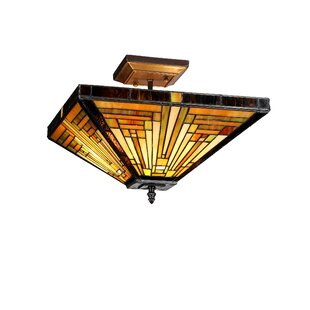 Charlotte 2-Light Semi Flush Mount by Astoria Grand