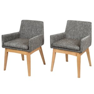 Perla Mid-century Arm Chair (Set of 2) by Corrig..