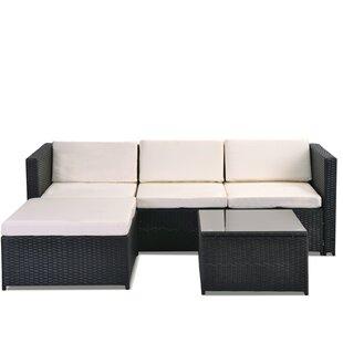 Buy Sale Price Froholdt 4 Seater Rattan Sofa Set