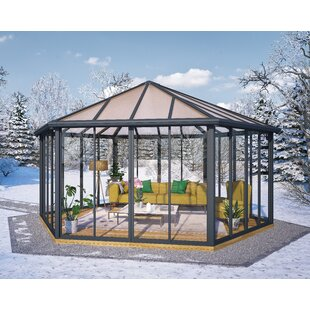 Palram Garda 19.5 Ft. W x 19.5 Ft. D Aluminum Patio Gazebo