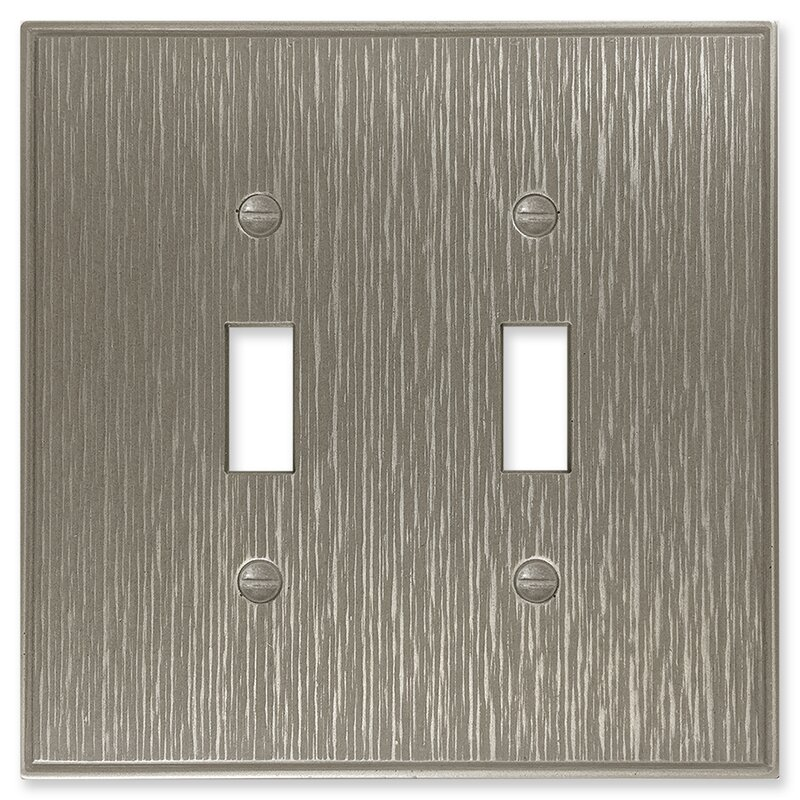 Questech Twill Decorative Metal Double Toggle Light Switch Cover