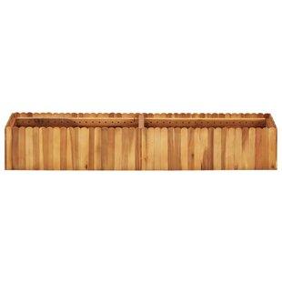 Wood Planter Box With Trellis By VidaXL