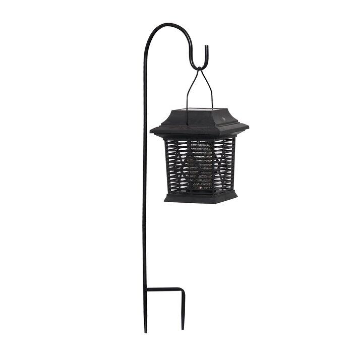 Black Solar Ed Led Outdoor Bug Zer Lantern