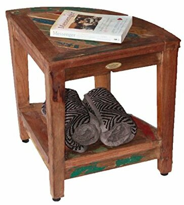 Beau Oasis Recycled Reclaimed Salvaged Boat Wood Corner Table Bench