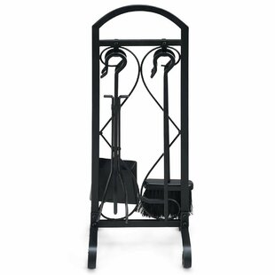 Tyree 5 Piece Iron Fireplace Tool Set By Belfry Heating