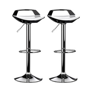 Ramos Swivel Adjustable Bar Stool (Set Of 2) By George Oliver