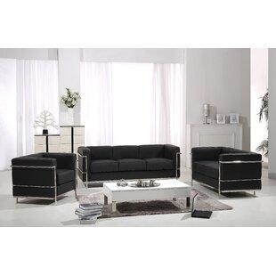 Emersyn Leather Configurable Living Room Set by Orren Ellis