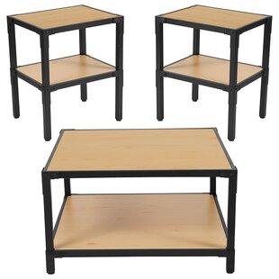 Ebern Designs Lance 3 Piece Coffee Table Set