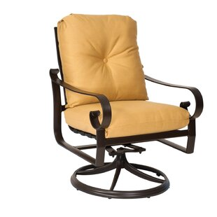 Belden Rocker Swivel Patio Dining Chair