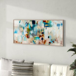 Stupell Industries Grey and Blue Celestial Love Sky Swinging by The Crescent Moon and Stars 24 x 30 Design by Victoria Borges White Framed Wall Art
