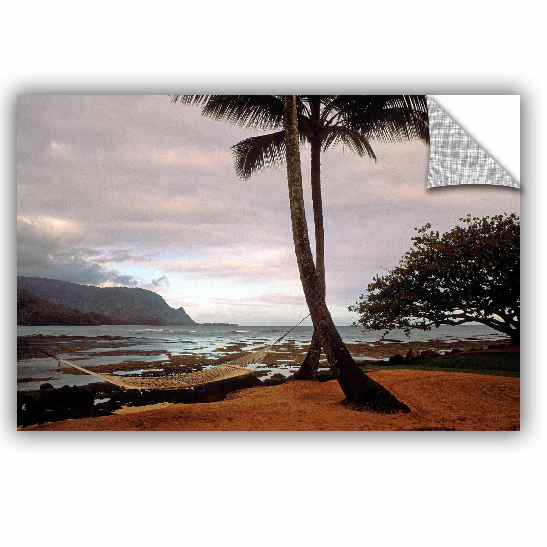 Artwall Hanalei Bay Hammock At Dawn By Kathy Yates Photographic Printremovable Wall Decal Wayfair