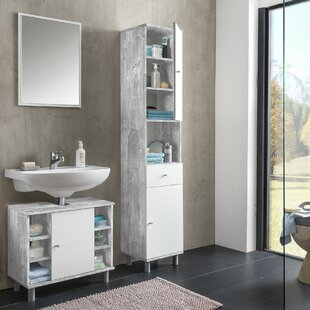 Charnley 3 Piece Bathroom Furniture Set With Mirror By Mercury Row