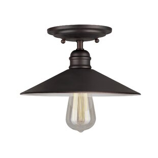 Crewe 1-Light Semi Flush Mount by Breakwater Bay