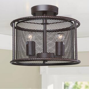 2-Light Semi Flush Mount by LN..