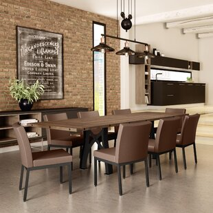 17 Stories Everly 9 Piece Extendable Dining Table