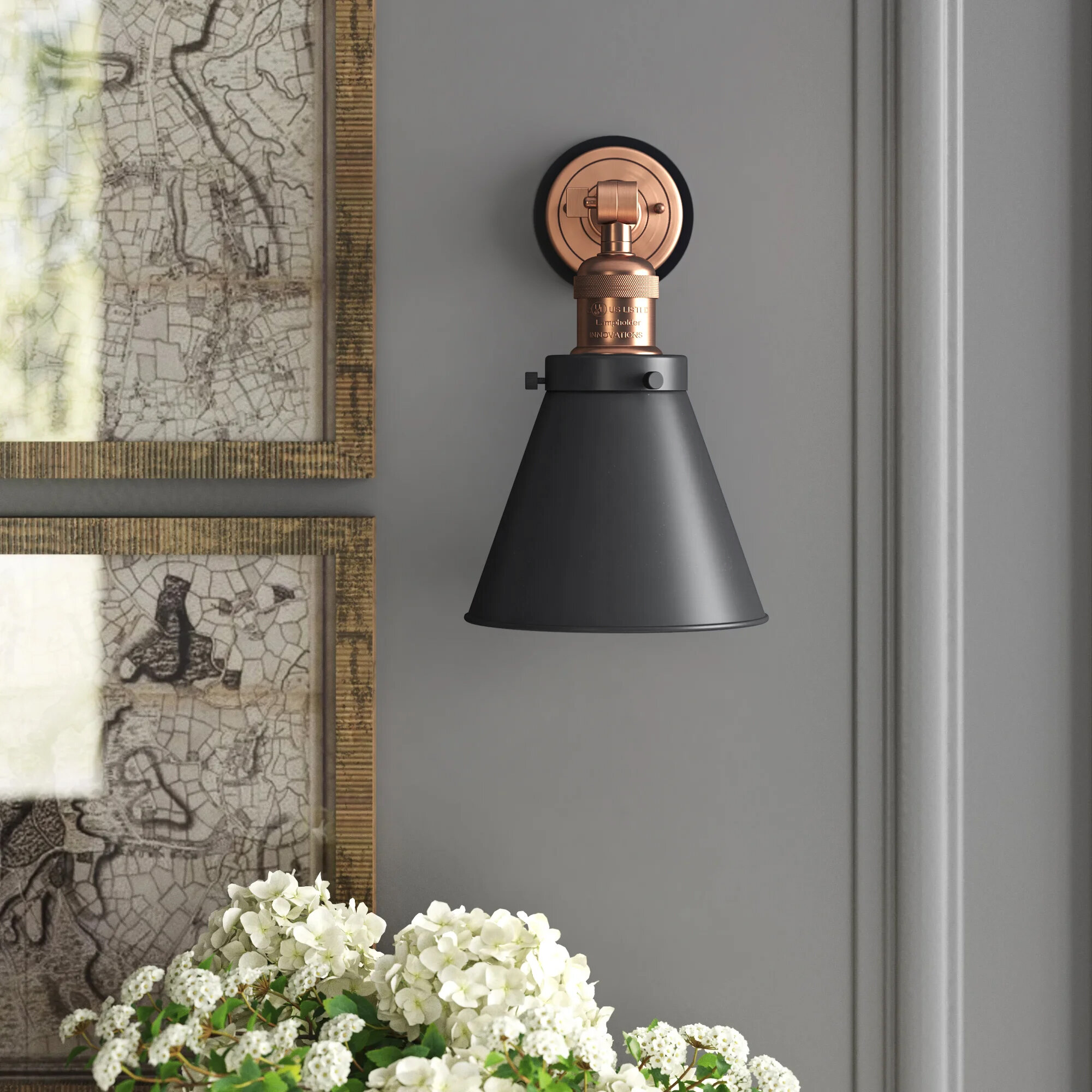 Greyleigh Donovan 1 Light Dimmable Armed Sconce Wayfair
