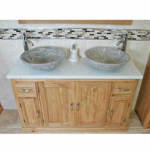 Decicco Solid Oak 1230mm Free-Standing Vanity Unit By Belfry Bathroom