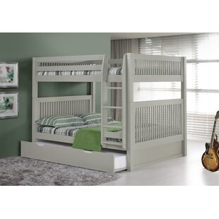 Price Check Oakwood Full Over Full Bunk Bed with Trundle by Harriet Bee Reviews (2019) & Buyer's Guide