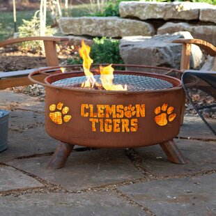 Collegiate Series Steel Wood Burning Fire Pit By Patina Products