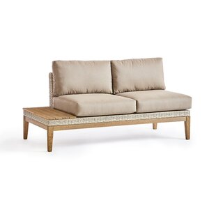 Darnell Patio Loveseat with Cushions by Rosecliff Heights