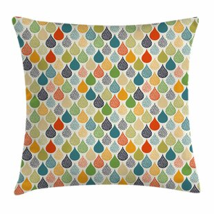 Abstract Large Drops Square Pillow Cover