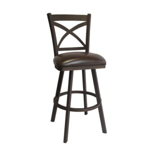 Hufford 26 Swivel Bar Stool Red Barrel Studio