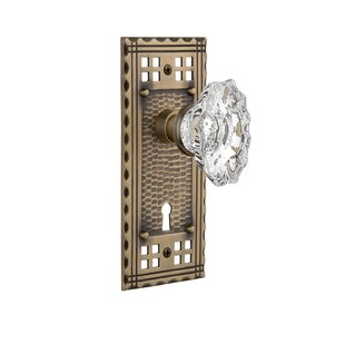 Chateau Privacy Door Knob with Craftsman Plate by Nostalgic Warehouse