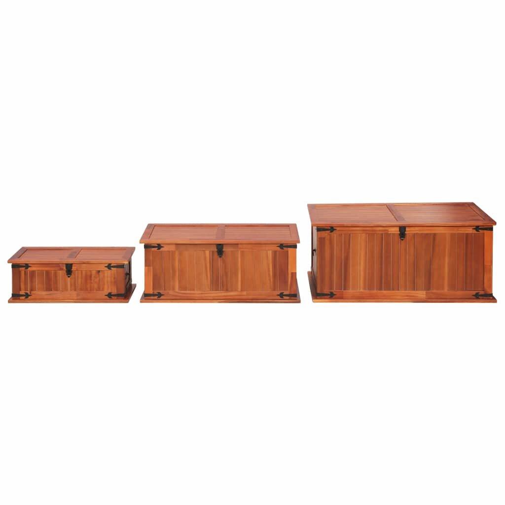 Millwood Pines Minneiska Solid Acacia Wood Toy Box Wayfair