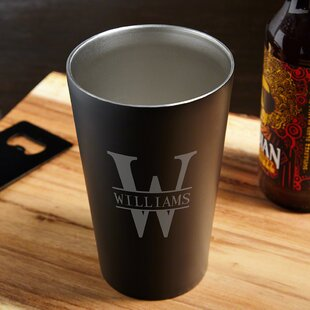 Oakmont Engraved 16 oz. Stainless Steel Pint Glass