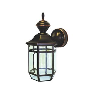 Find for Gillette Brass Outdoor Wall Lantern with Motion Sensor By World Menagerie