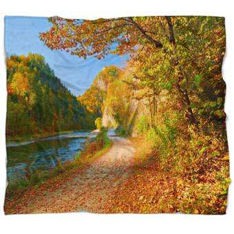 East Urban Home Landscape Photo Dunajec River Gorge In Autumn Blanket Wayfair