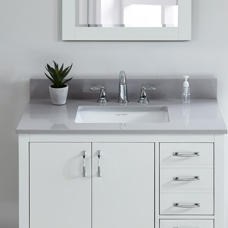 Tile Top Engineered Marble 37 Single Bathroom Vanity Top Reviews Wayfair