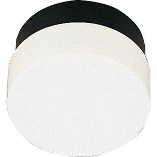 Deals Hollen 1-Light Contemporary White Flush Mount By Latitude Run