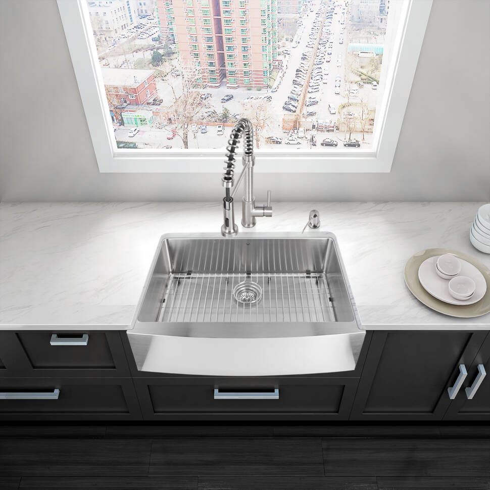 Vigo 33 L X 22 W Farmhouse Apron Kitchen Sink Reviews Wayfair
