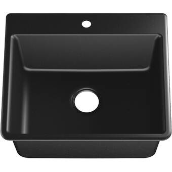 Solidcast Wakefield 25 L X 22 W Single Laundry And Utility Sink Reviews Wayfair