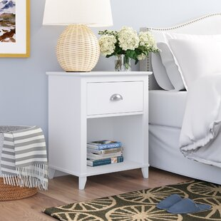 Beachcrest Home Pembrooke 1 Drawer Wood Nightstand