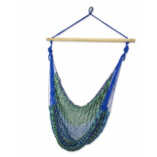 Novica Single Person Multicolored Hand-Woven Mayan Artists of the Yucatan Natural Cotton With Accessories Included Swinging Chair Hammock